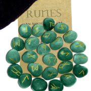 Green Aventurine Runes