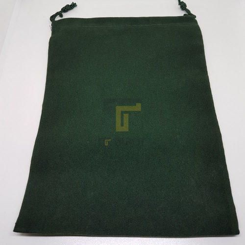Túi nhung xanh lá