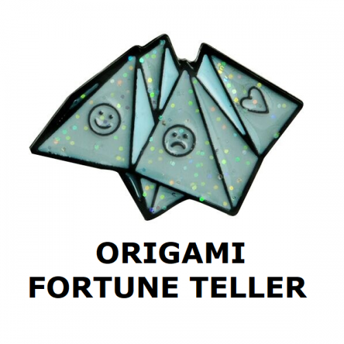 Huy hiệu Origami Fortune Teller