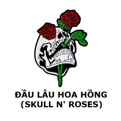 Huy hiệu Skull n' Roses