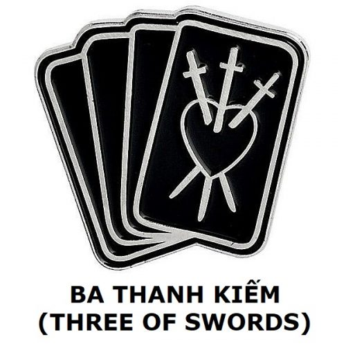 Huy hiệu Three of Swords
